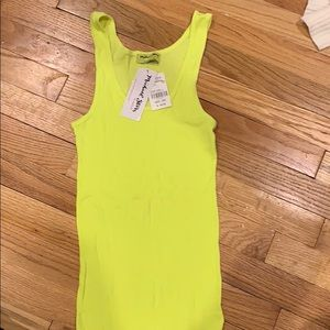 Michael Stars Tank Top NWT yellow neon